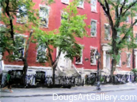 Artwork of Greenwich Village NYC