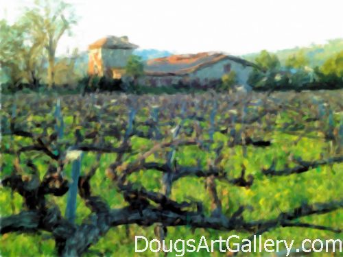 Napa Valley in Winter Winery Art Print