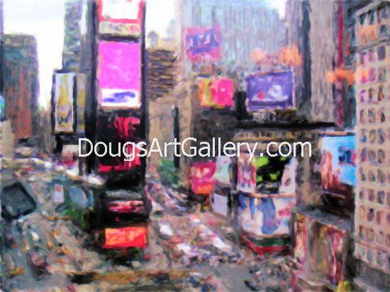 Time Square New York art print