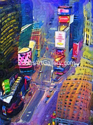 artwork Times Square New York City by Doug Dourgarian