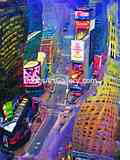 Artwork of Times Square New York City