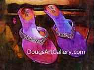 Bling Bling type Glitter on Decorated Flip Flops