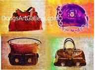 four purses andy warhol style in one print